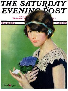 """""""Purple Posey,"""" Saturday Evening Post Cover, May 22, 1926 by Penrhyn Stanlaws"""