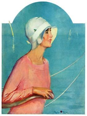 """""""Woman at the Rudder,""""August 17, 1929 by Penrhyn Stanlaws"""