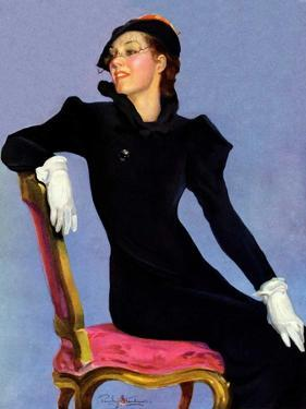 """Woman in Black,""April 14, 1934 by Penrhyn Stanlaws"