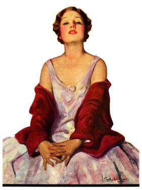 """""""Woman in Red Stole,""""July 22, 1933 by Penrhyn Stanlaws"""