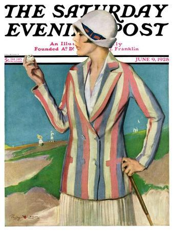 """Woman in Sandtrap,"" Saturday Evening Post Cover, June 9, 1928"