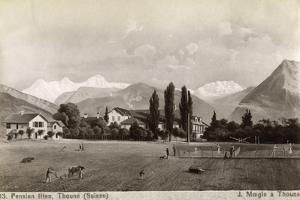 Pension Liten, Thun, Switzerland, 1885 by J Moegle