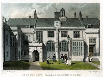 Pensioner's Hall, Charterhouse, London, 1830 by J Rogers