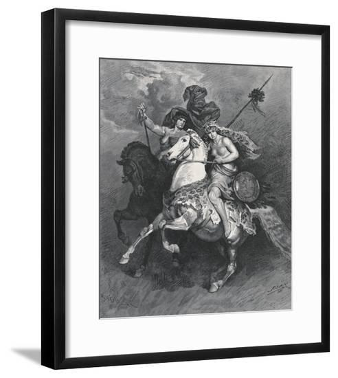 Penthesilia, Queen of the Amazons--Framed Giclee Print