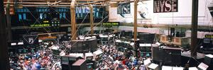 People at a Stock Market, New York Stock Exchange, New York City, New York State, USA