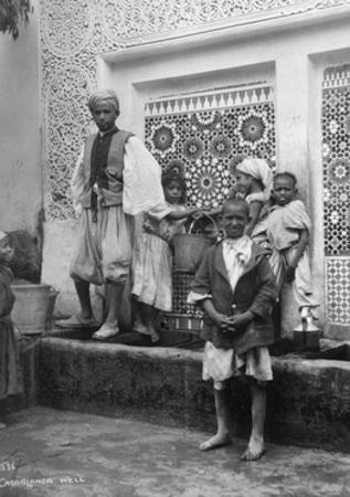 People at a Well, Casablanca, Morocco, C1920S-C1930S