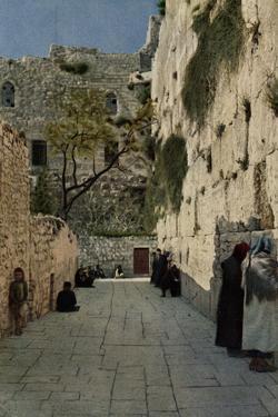 People at the Wailing Wall, Jerusalem