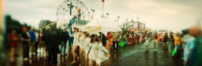 People Celebrating in Coney Island Mermaid Parade, Coney Island, Brooklyn, New York City, New York