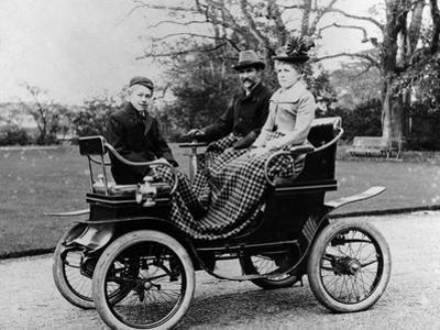 People in a De Dion Vis-A-Vis Car, 1902