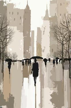 People Under Rain In The City