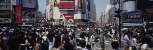 People Walking on the Street, Shibuya, Tokyo, Japan