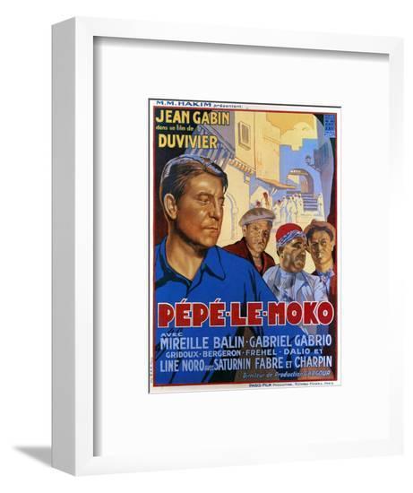 Pepe Le Moko, Jean Gabin (Left), 1937--Framed Giclee Print