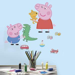 Peppa Pig - Peppa/George Playtime Peel and Stick Giant Wall Decals