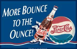 Pepsi More Bounce Tin Sign