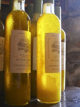 Bottles of Olive Oil, Chateau Vannieres, La Cadiere d'Azur, Bandol, Var, Cote d'Azur, France by Per Karlsson