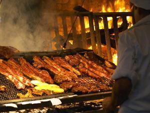 Charcoal Grill in Restaurant El Palenque, Mercado Del Puerto, Montevideo, Uruguay by Per Karlsson