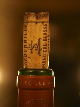 Closeup of a Bottle, Chateau Carmonnieux, Grand Cru Classe De Graves by Per Karlsson