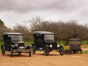 Collection of Vintage Cars, T Fords, Bodega Bouza Winery, Canelones, Montevideo, Uruguay by Per Karlsson