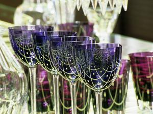 Crystal Glasses, Baccarat Museum Shop and Restaurant, Hotel De Noailles, Paris, France by Per Karlsson