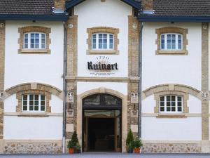 Entrance to Champagne Ruinart and Facade of Winery Building, Reims, Marne, France by Per Karlsson