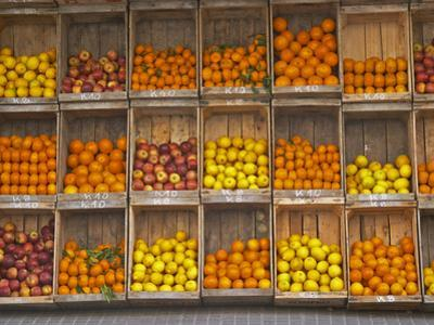 Fruit and Vegetable Shop in Wooden Crates, Montevideo, Uruguay by Per Karlsson