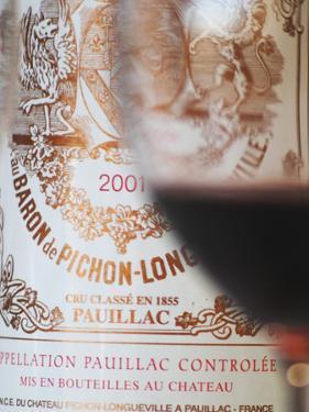 Glass of Wine, Chateau Baron Pichon Longueville, Pauillac, Medoc, Bordeaux, France by Per Karlsson
