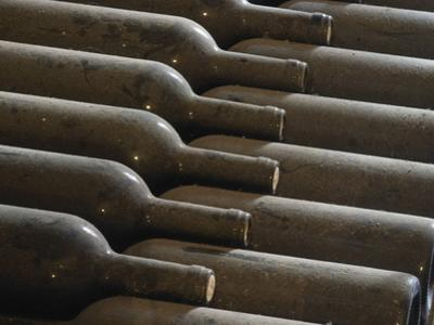 Old Bottles Aging in the Cellar, Chateau Vannieres, La Cadiere d'Azur by Per Karlsson
