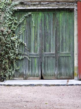 Old Garage Door, Vinos Finos H Stagnari Winery, La Puebla, La Paz, Canelones, Montevideo, Uruguay by Per Karlsson