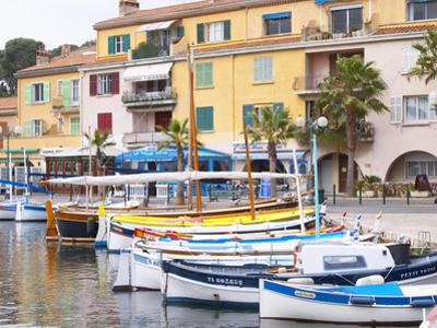 View of Harbour with Fishing and Leisure Boats, Sanary, Var, Cote d'Azur, France by Per Karlsson