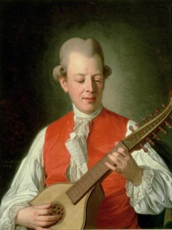 Portrait of the Poet Carl Mikael Bellman (1740-95) 1779 by Per Krafft