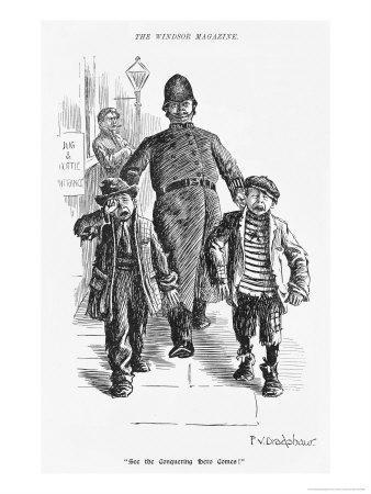 Jolly Plump Police Constable and His Tearful Prisoners