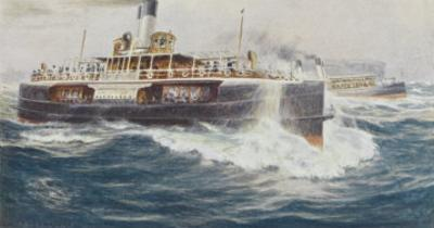Australian Ferry Boats Carrying Holidaymakers to the Sea Beaches by Percy F.s. Spence