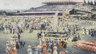Flemington Race Course on the Day of the Melbourne Cup by Percy F.s. Spence