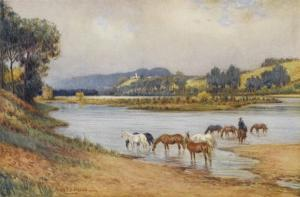 Hawkesbury River New South Wales, The Old Ford by Percy F.s. Spence