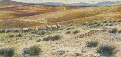 Scene in the Snowy Mountains Near Canberra by Percy F.s. Spence