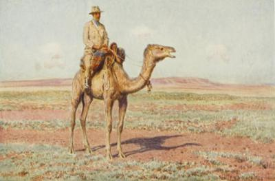 Surveyor on Camelback Reconnoitres the Route for the Trans-Continental Railway by Percy F.s. Spence
