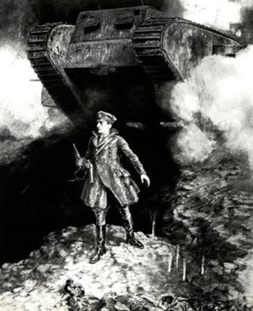 WW1 - Captain Hotblack Guides Tank into Action by Percy F.s. Spence