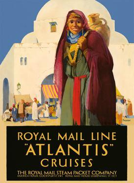 Atlantis Cruises - Royal Mail Line - The Royal Mail Steam Packet Company by Percy Padden