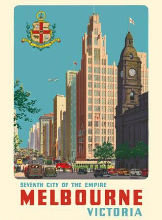 Melbourne, Victoria Australia - Seventh City of the Empire by Percy Trompf
