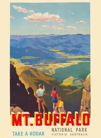 Mt. Buffalo National Park - Victoria, Australia - Take a Kodak - Victorian Railways by Percy Trompf