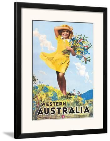 Western Australia, Flower Girl c.1936 by Percy Trompf