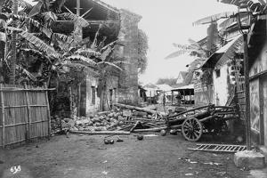 Ruined Village During Philippine Insurrection by Perely Fremont Rockett