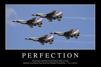 Perfection: Citation Et Affiche D'Inspiration Et Motivation
