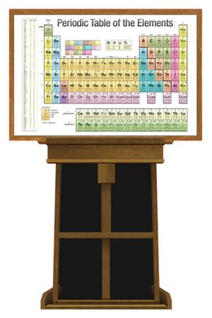 Periodic Table of Elements on Easel Lifesize Standup