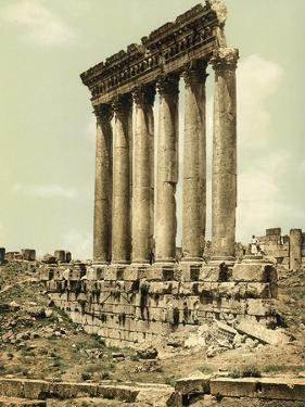 Peristyle of the Temple of Jupiter, Baalbek, C.1880-1900