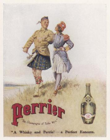 Perrier Water Goes Well with Whisky
