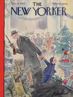The New Yorker Cover - December 18, 1943 by Perry Barlow