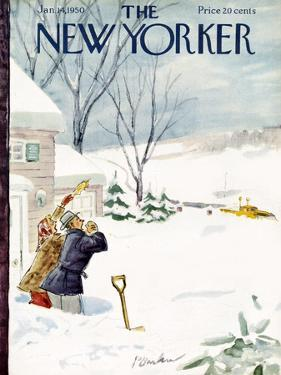 The New Yorker Cover - January 14, 1950 by Perry Barlow