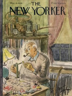The New Yorker Cover - March 13, 1948 by Perry Barlow