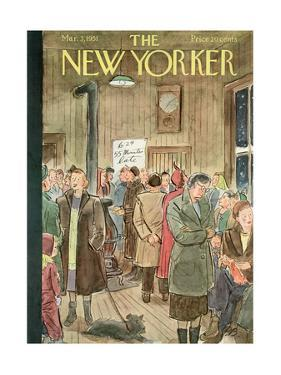 The New Yorker Cover - March 3, 1951 by Perry Barlow